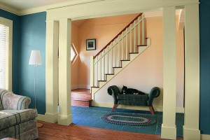 Mythic non toxic paint in living room setting