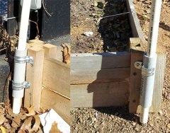 Attach PVC to garden using clamps