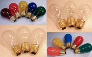 Suspended party light string bulbs