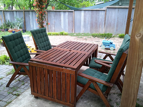how to restore dry faded wooden outdoor furniture clever solutions to everyday problems