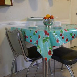 Aqua-Cherries-Oilcloth-Tablecloth