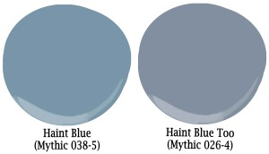 Haint blue color swatches