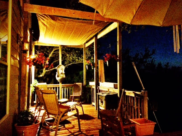 Zinger customer shares pictures of their shade sail overlooking the Texas Hill Country
